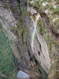 Cachoeira da Fumaça, Vale do Capão, a maior do Brasil - Chapada Diamantina