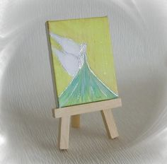 Acrylmalerei - Neu Acrylbild Engel Schutzengel Staffelei Unikat   - ein Designerstück von Kunstgalerie-Winkler bei DaWanda