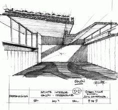 Image 28 of 28 from gallery of Green Hills Kinder / Broissin Architects. Bamboo Architecture, Architecture Drawings, Classical Architecture, Architecture Details, Interior Design Presentation, Presentation Layout, Interior Design Sketches, Sketch Design, Famous Architects