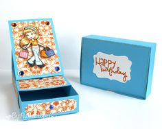 The Paper Shelter - Shopping girl - easel card box - Silhouette Cameo - Ruthie Lopez - My Hobby My Art