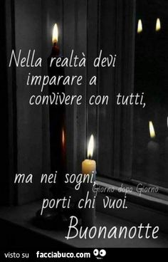 - note, immagini e pensi eri. Italian Phrases, Italian Quotes, Good Morning Good Night, Good Mood, Life Quotes, Invitations, Love, Day, Facebook