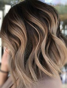 20 Balayage Ombre Short Haircuts , Who does not like balayage ombre short haircuts? Here are some ideas about it. Here are 20 Balayage Ombre Short Haircuts. Balayage hair is one of many. Carmel Blonde Hair Color, Ombre Hair Color, Blonde Highlights On Dark Hair Short, Carmel Ombre Hair, Diy Ombre Hair, Asian Ombre Hair, Red Ombre, Blonde Hair With Brown Roots, Carmel Blonde Highlights