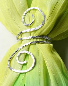 Aluminum Wire Scarf Slide or Napkin Ring Scarf by ShawlPinHeaven