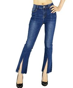 New Trending Denim: YSJ Womens Tassels Bell Bottom Fitted Denim Jeans Flared Stretch Pants (8, Blue). YSJ Women's Tassels Bell Bottom Fitted Denim Jeans Flared Stretch Pants (8, Blue)  Special Offer: $28.99  266 Reviews Made with stretchy demin fabric to make sure you're comfortable yet stylish. If you want to find a pair of classy fitted jeans you could wear to work or...