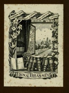 Bookplate of Idina Brassey by CharmaineZoe, via Flickr
