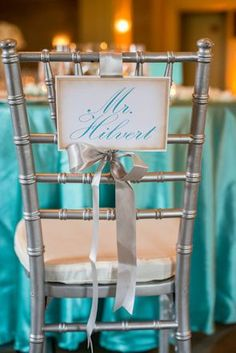 wedding chair signs. photo by johnbmueller.com