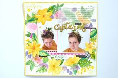 """Captured"" 12x12 scrapbook using Felicity Jane -note to self kit - Julia K"
