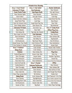 Daily And Weekly Detailed Cleaning Checklist  Editable Download