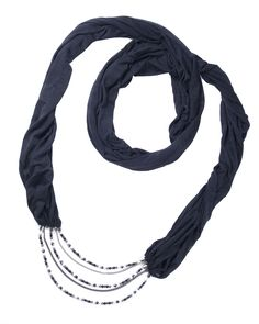 Purity Of Purpose Scarf Necklace  -helps one find their purpose and follow if with purity of focus, intention, and tenacity