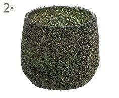"""Komplet 2 świeczników na tealighty """"Grass I"""", Ø 7, wys. 7 cm"""