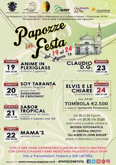 #PapozzeinFesta - Programma 2016
