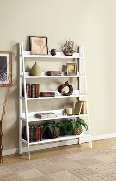 """Wooden 72"""" Corner Bookcase"""