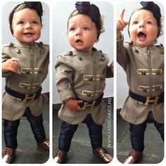 A military/regal look for the baby girl. #baby