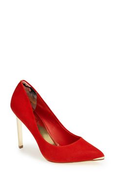Ted Baker red and gold pumps.