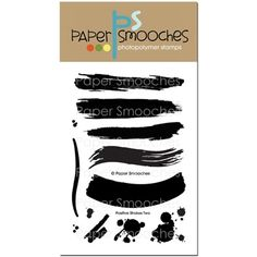 Paper Smooches POSITIVE STROKES TWO Clear Stamps A1S226