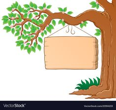Tree branch in spring theme image 3 vector image on VectorStock Boarder Designs, Page Borders Design, Powerpoint Background Design, Poster Background Design, Art Drawings For Kids, Art For Kids, Boarders And Frames, School Murals, School Painting