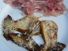 Steinpilz mit Parmesan und San-Daniele-Schinken