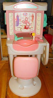 Little Tikes Desk Victorian Child Play Size Pink Amp White