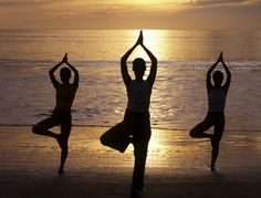 This year the summer festival season does not have to involve sleeping on the floor, leaving you grubby and hungover, as new fitness festivals - complete with yoga parties - are all the rage. Yoga Party, Zen, Tight Hamstrings, Upward Facing Dog, Corpse Pose, Back Muscles, Pranayama, Qigong, Yoga Tips