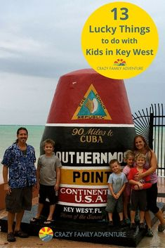 Check out these 13 #family friendly things to do in Key West, #Florida! It's not just a party town anymore! Looking for #fun and #adventure in the #Keys? Check out our #tips and #ideas via @Crazy Family Adventure #FloridaKeys #beach #destinations #thingstodo #withkids #roadtrip