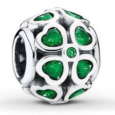 Pandora Green Lucky Clover Charm $65