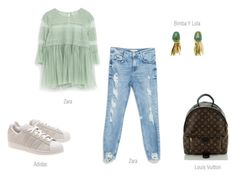 weekend by ireneconcello on Polyvore featuring Zara, adidas Originals and Louis Vuitton