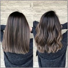 Straight Hair Updo, Balayage Straight Hair, Haircuts Straight Hair, Straight Wigs, Brown Straight Hair, Straight Brunette Hair, Bob Haircuts, Short Hair Ombre Brown, Medium Length Straight Hairstyles