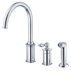 Buy the Danze Chrome Direct. Shop for the Danze Chrome H+C Waterware Burgundy Single Handle High-Arc Kitchen Faucet with Side Spray and save. 3 Hole Kitchen Faucet, Kitchen Faucet With Sprayer, Kitchen Faucet Reviews, Best Kitchen Faucets, Bathroom Faucets, Plumbing Fixtures, Kitchen Handles, Kitchen Hardware