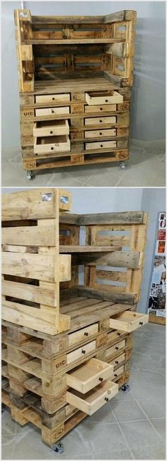 We have created this project which contains many small drawers in which you can save things of you use on daily basis. We neither colored it nor polished it, still it looks awesome. There are different methods to create this project from which you can choose the one you consider easy.