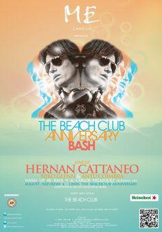 sábado The Beach Club Anniversary Bash at Me By Melia Cancun