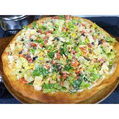 Chicken Caesar salad pizza