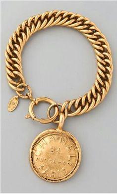 Chanel vintage gold bracelet