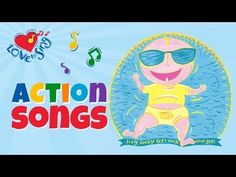 Actions Fun - Hey Baby Let's Rock and Roll - Children Love to Sing Kids Action Songs Free Song Lyrics, Free Songs, Kids Dance Songs, Rhymes Video, Action Songs, Kids Singing, Child Love, Kids Videos, Big Kids