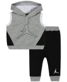 Jordan Baby Boys' 2-Piece Sleeveless Hoodie & Pants Set