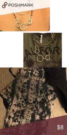 Black & silver tier statement necklace Black & silver tiered necklace. Jewelry Necklaces