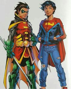 superboy and robin (son of batman and son of superman)
