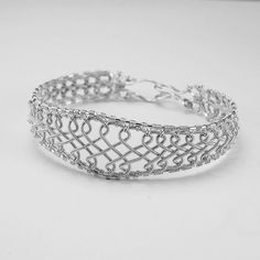 Celtic Cuff Coiled Silver Braided Bracelet -  Wire Jewelry Tutorial Instructions PDF. $12.00, via Etsy.