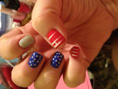 My attempt at July 4th nails...