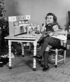 On Christmas morning...I still love my Raggedy Ann and Andy dolls. I have a collection