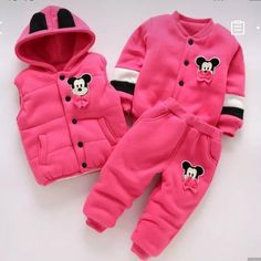 Onefa Children Kids Baby Girls Keep Warm Cartoon Rabbit Hooded Wadded Jacket Clothes