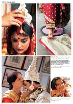 A Bengali Wedding by Satyaki Ghosh, via Behance.I love the Bodhu Boron capture(welcoming ceremony for the bride as she steps into her new home) Bengali Bridal Makeup, Bengali Wedding, Bengali Bride, Bengali Saree, India Wedding, Traditional Indian Wedding, Big Fat Indian Wedding, Indian Bridal, Bengali Culture