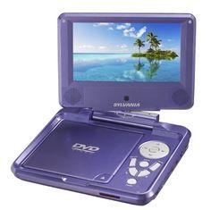 Sylvania SDVD7027 7-Inch Portable DVD Player with Car Bag/Kit, Swivel Screen, USB/SD Card Reader (Purple) $69.99