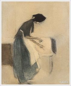 Helena Sofia Schjerfbeck (Finnish, 1862 - 1946) Genre scenes - «Впечатления дороже знаний...»
