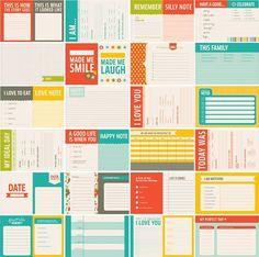smash book printables | Printable Project Life or Smash Book Journaling ... | Smash Book Ideas