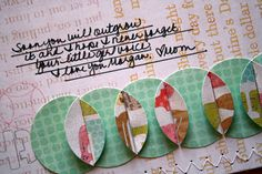 How to make & sew a strip of folded circles and other cute scrapbooking ideas.  Instructions included.