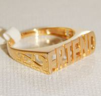 MAKE A FRIEND HAPPY WITH THIS PERFECT FRIEND GOLD PLATED STERLING SILVER 925 UNISEX RING FOR HIM OR HER