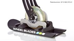 Wheelblades, little skis for front castors during snow! Would be a great way to get around in winter :D Can also be used for strollers.
