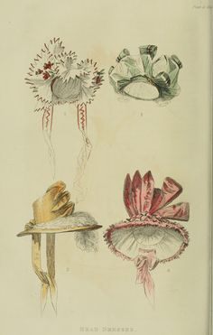 Bonnets 1828 Ackermann