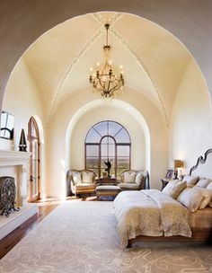 I am in awe of the simple grandeur of this groin vault ceiling from Dream Ceilings: Groin Vaults Inspire Overarching Awe idea book from houzz.com