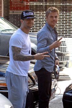 Derek Hough - Derek Hough and Mark Ballas Spotted in NYC